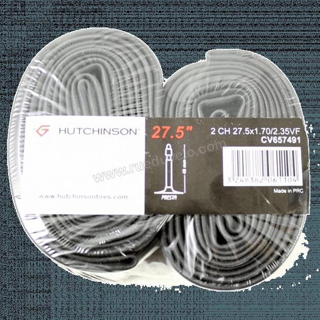 Hutchinson Tubes Set Of 2 Type 2 Tubes -Presta Valves Black 27.5X1.70-2.35