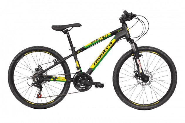 Montra DTR 24  Matte Black/Yellow/Green