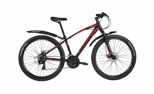 Roadeo Fugitive (2020) 29T Black with Neon Red
