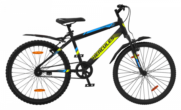 Hercules Streetcat Pro HT 24T Matt Black-With Neon Yellow Graphics